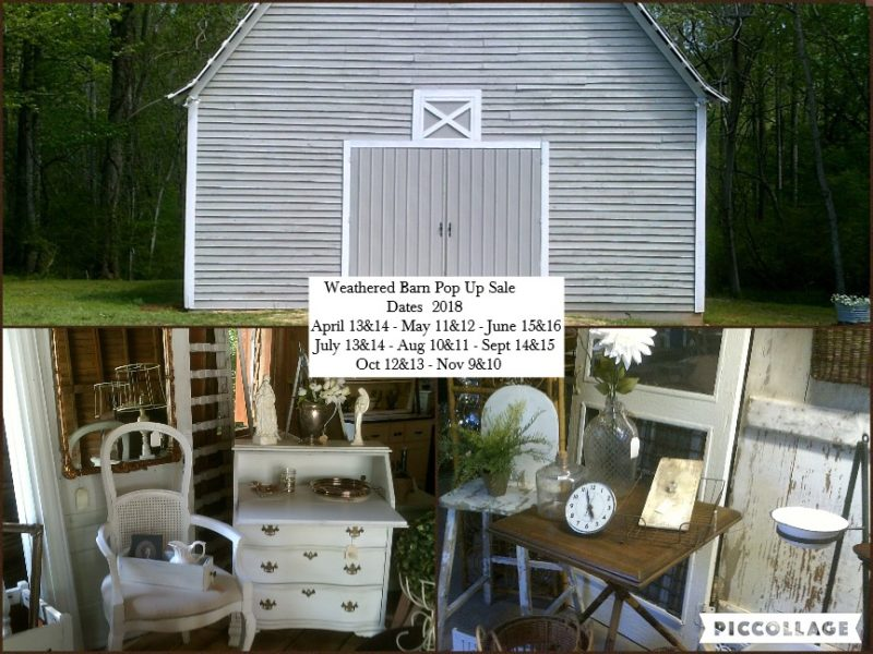 weathered barn pop up sale